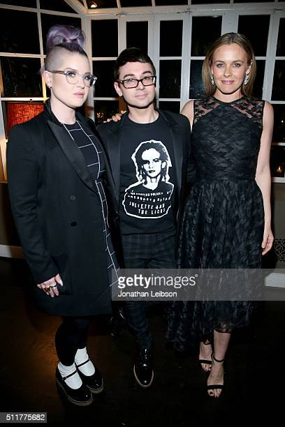 TV personality Kelly Osbourne fashion designer Christian Siriano and actress Alicia Silverstone attend a dinner for the launch of the first luxury...