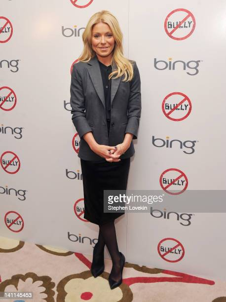 TV personality Kelly Ripa attends The Weinstein Company Bing screening Of 'Bully' at Crosby Street Hotel on March 11 2012 in New York City