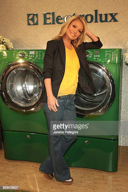 Personality Kelly Ripa launches the new Electrolux limited edition Kelly Green shade at Banchet Florist on April 13 2009 in New York City