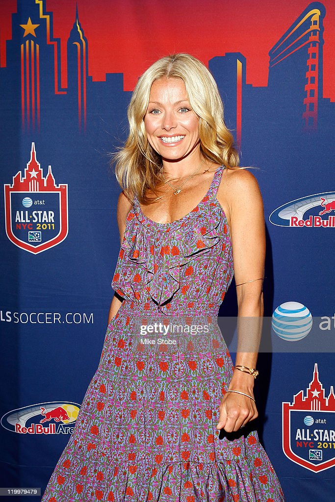 TV personality Kelly Ripa smiles prior to the start of the