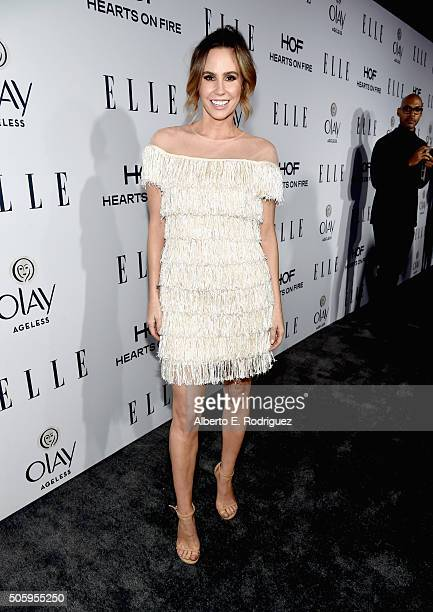 TV personality Keltie Knight attends ELLE's 6th Annual Women in Television Dinner Presented by Hearts on Fire Diamonds and Olay at Sunset Tower on...