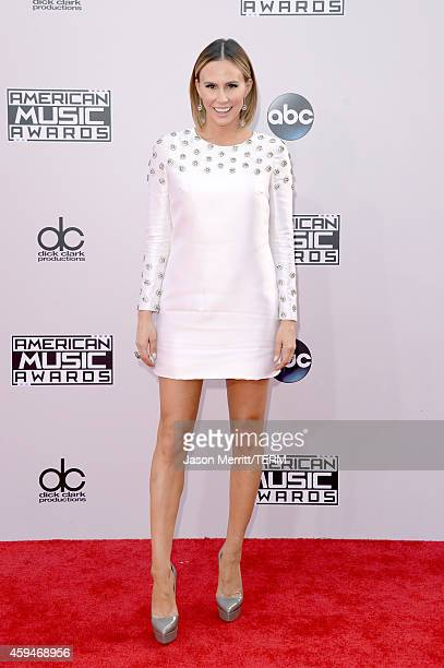 TV personality Keltie Knight attends the 2014 American Music Awards at Nokia Theatre LA Live on November 23 2014 in Los Angeles California