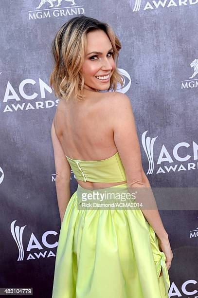 TV personality Keltie Knight attends the 49th Annual Academy of Country Music Awards at the MGM Grand Garden Arena on April 6 2014 in Las Vegas Nevada