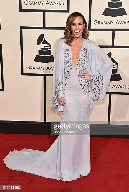 TV personality Keltie Knight attends The 58th GRAMMY Awards at Staples Center on February 15 2016 in Los Angeles California