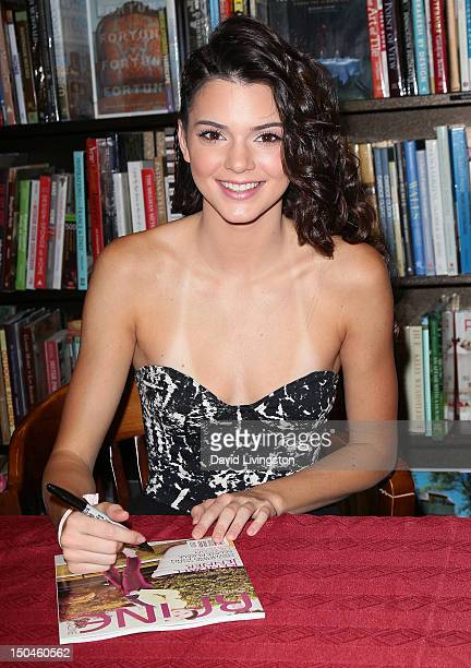 TV personality Kendall Jenner attends a signing for the summer issue of Raine Magazine at Barnes Noble on August 18 2012 in Calabasas California