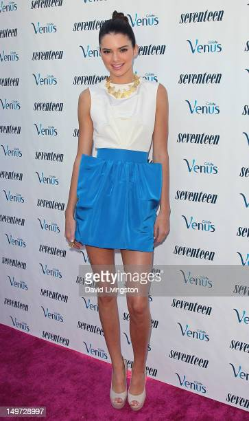 Personality Kendall Jenner attends Kendall and Kylie Jenner's Celebrate Summer with Seventeen Magazine event at the W Hotel Westwood on August 2,...