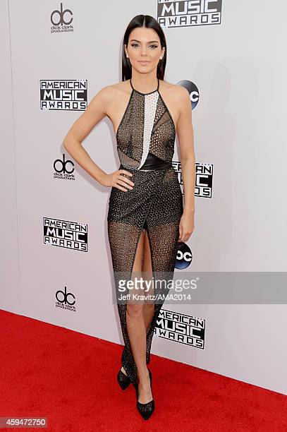 TV personality Kendall Jenner attends the 2014 American Music Awards at Nokia Theatre LA Live on November 23 2014 in Los Angeles California