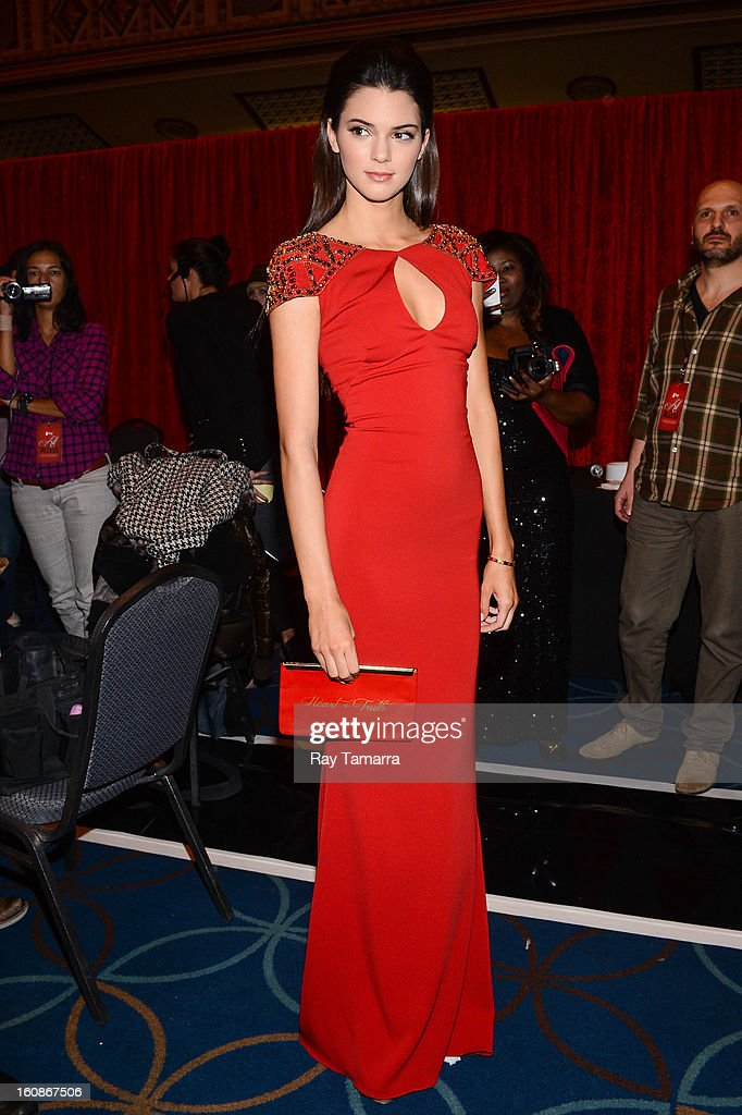 TV personality Kendall Jenner attends The Heart Truth's Red Dress Collection Fall 2013 Mercedes-Benz Fashion Show at 499 Seventh Avenue on February 6, 2013 in New York City.