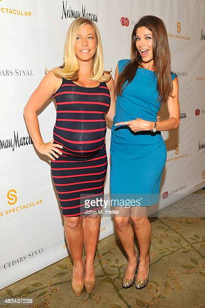 Personality Kendra Wilkinson and actress Adrienne Janic attends the Cedars Sinai Sports Spectacular Women's Luncheon at the Beverly Hills Hotel on...