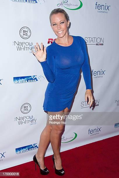 TV personality Kendra Wilkinson arrives at Playboy Radio's Hollywood Casino Night benefiting The Leukemia Lymphoma Society's Hodgkins Haters at W...