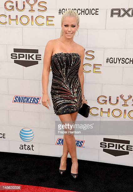 TV personality Kendra Wilkinson arrives at Spike TV's 6th Annual Guys Choice Awards at Sony Pictures Studios on June 2 2012 in Culver City California