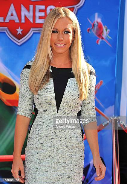 TV personality Kendra Wilkinson arrives at the premiere of Disney's 'Planes' presented by Target at the El Capitan Theatre on August 5 2013 in...