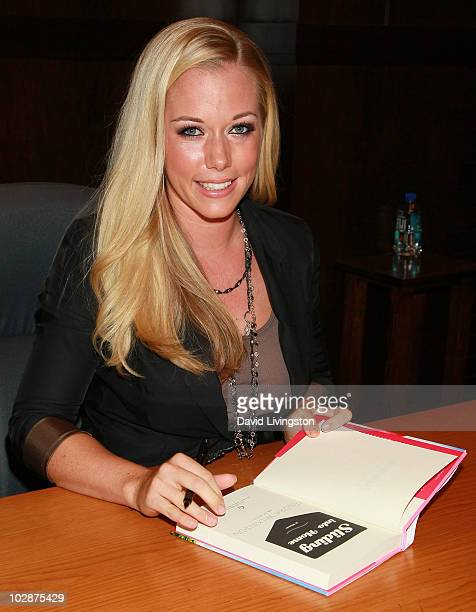 Personality Kendra Wilkinson attends a signing for her book 'Sliding Into Home' at Barnes & Noble Booksellers at The Grove on July 13, 2010 in Los...