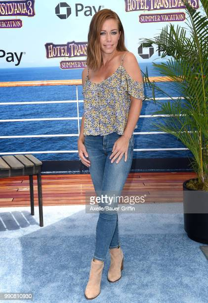 TV personality Kendra Wilkinson attends Columbia Pictures and Sony Pictures Animation's World Premiere of 'Hotel Transylvania 3 Summer Vacation' at...