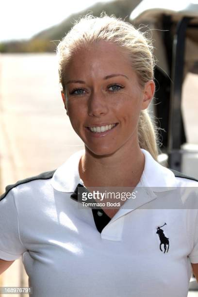 TV personality Kendra Wilkinson attends the 2nd annual Hank Baskett Classic Golf Tournament held at the Trump National Golf Club on May 17 2013 in...