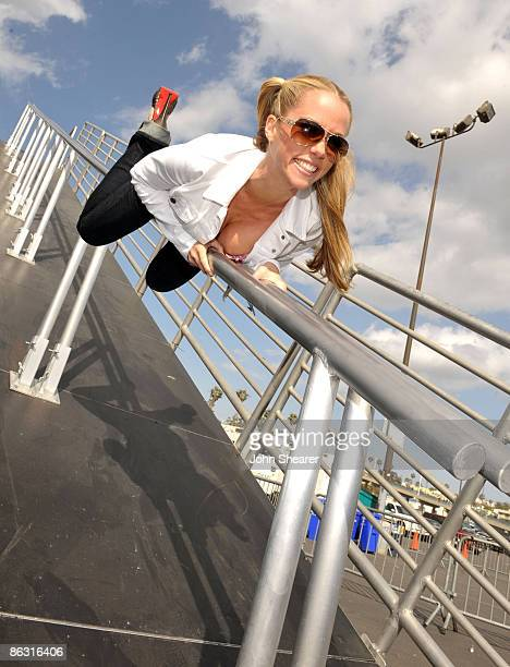 TV personality Kendra Wilkinson attends the 3rd Annual Powersliding Championships presented by Levi's held at the Santa Monica Pier on April 15 2009...