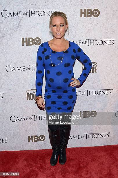 Personality Kendra Wilkinson attends the HBO And Blackhouse Foundation Game Of Thrones Sundance Soiree on January 18 2014 in Park City Utah