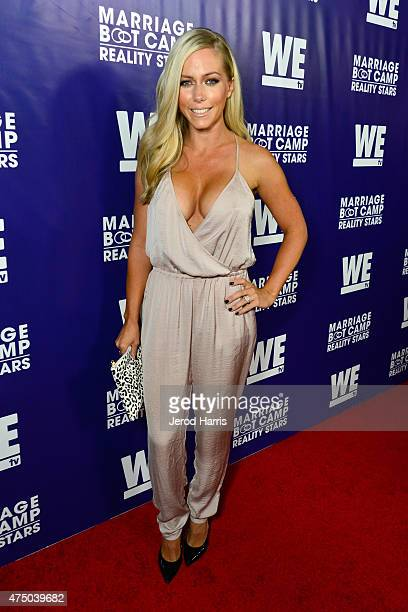 TV personality Kendra Wilkinson attends the premiere party for the third season of Marriage Boot Camp Reality Stars hosted by WE tv at HYDE Sunset...