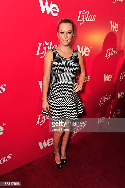 TV personality Kendra Wilkinson is seen at WE tv's Celebration for The Premiere Of It's Newest Series The LYLAS at the Warwick on November 7 2013 in...