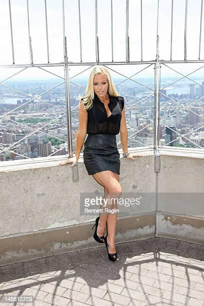 TV personality Kendra WilkinsonBaskett visitsthe Empire State Building on June 6 2012 in New York City
