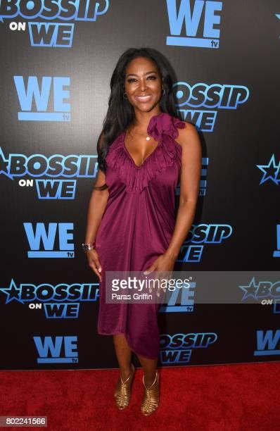TV personality Kenya Moore at Bossip On WE Atlanta Launch Celebration at Elevate at W Atlanta Midtown on June 27 2017 in Atlanta Georgia