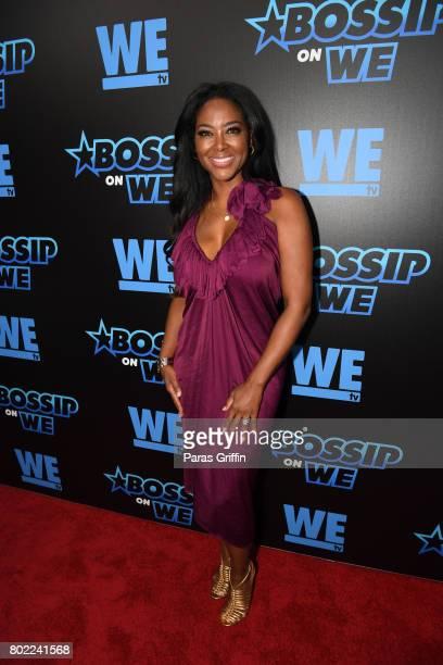 TV personality Kenya Moore at 'Bossip On WE' Atlanta Launch Celebration at Elevate at W Atlanta Midtown on June 27 2017 in Atlanta Georgia