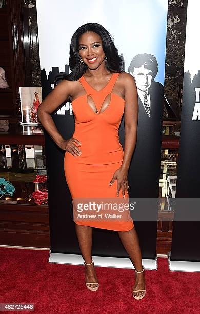 TV personality Kenya Moore attends a Celebrity Apprentice red carpet event at Trump Tower on February 3 2015 in New York City