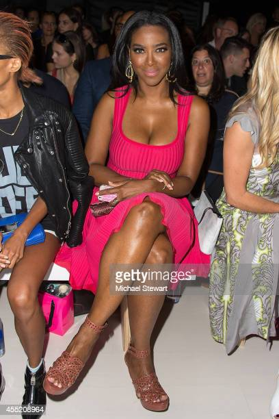 TV personality Kenya Moore attends Betsey Johnson during MercedesBenz Fashion Week Spring 2015 at The Salon at Lincoln Center on September 10 2014 in...