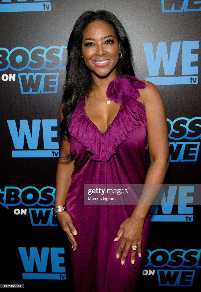 TV personality Kenya Moore attends 'Bossip On WE' Atlanta launch celebration at Elevate at W Atlanta Midtown on June 27, 2017 in Atlanta, Georgia.