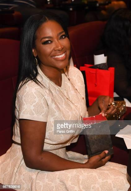 TV personality Kenya Moore attends the Kenya Moore 'Unforgettable' Atlanta screening at Cinebistro Town Brookhaven on April 12 2017 in Atlanta Georgia