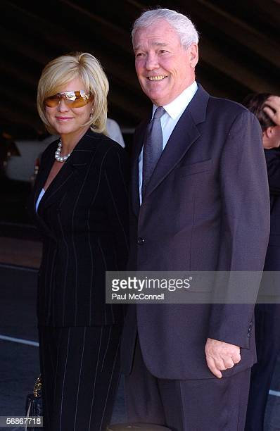 TV personality Kerri Ann Kennelly and her husband John Kennerley attends the memorial service for Kerry Packer at the Sydney Opera House on February...