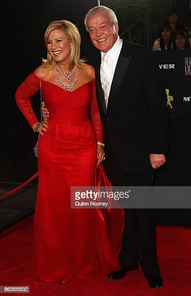 TV personality KerriAnne Kennerley and husband John Kennerley arrive for the 51st TV Week Logie Awards at the Crown Towers Hotel and Casino on May 3...