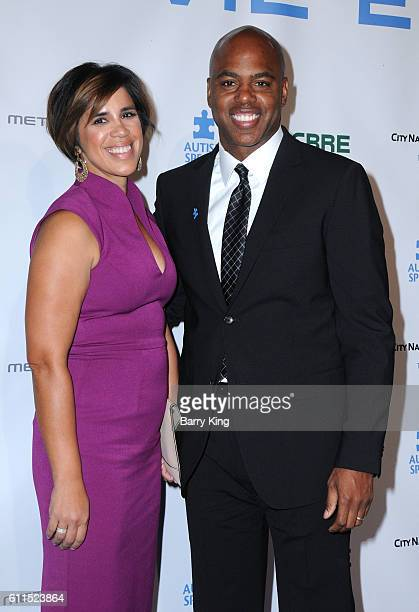 TV personality Kevin Frazier and wife Yazmin Cader Frazier attend Metropolitan Fashion Week 2016 La Vie En Bleu Signature event benefiting Autism...