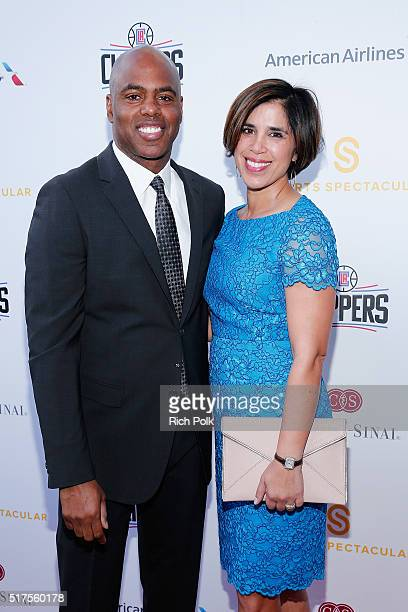 TV personality Kevin Frazier and Yazmin Cader Frazier attend the CedarsSinai Sports Spectacular at W Los Angeles – West Beverly Hills on March 25...