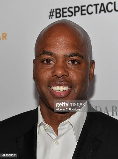 Personality Kevin Frazier arrives on the red carpet at the 2014 Sports Spectacular Gala at the Hyatt Regency Century Plaza on May 18 2014 in Century...