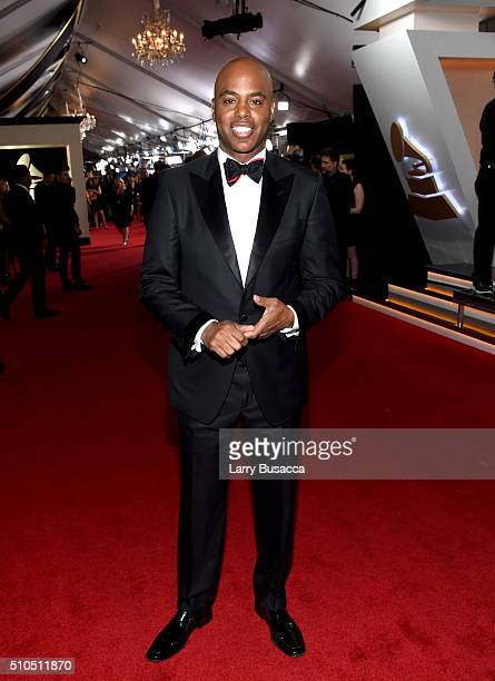 TV personality Kevin Frazier attends The 58th GRAMMY Awards at Staples Center on February 15 2016 in Los Angeles California