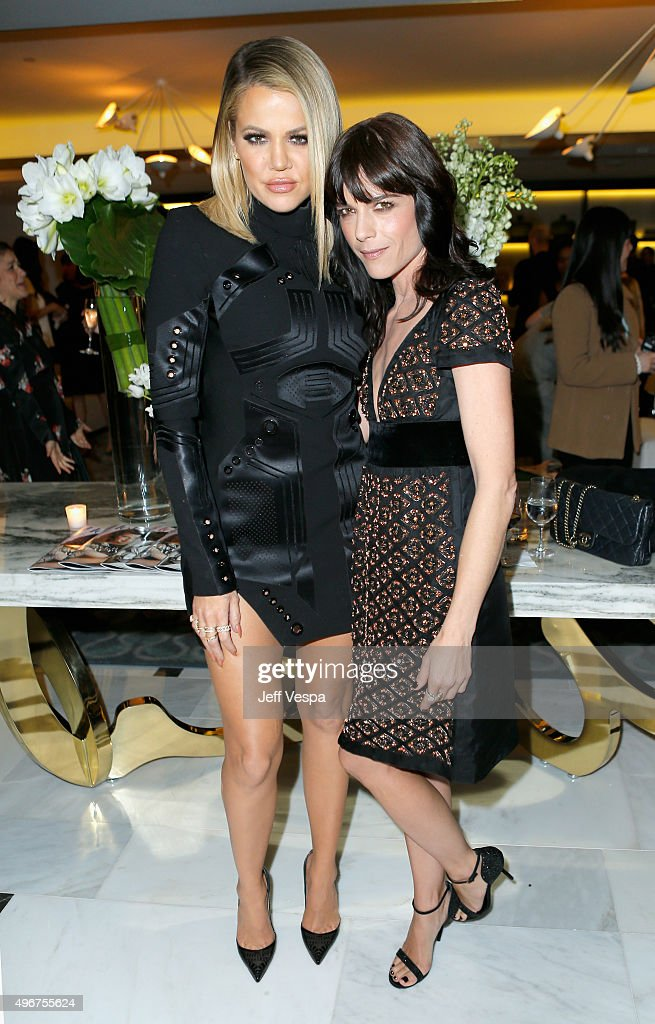 TV personality Khloe Kardashian (L) and actress Selma Blair attend The Hollywood Reporter's Beauty Dinner at The London West Hollywood on November 11, 2015 in West Hollywood, California.