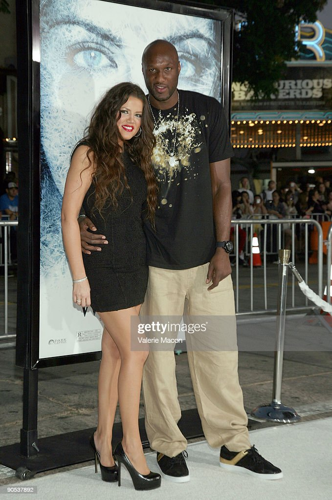 TV personality Khloe Kardashian and basketball player Lamar Odom arrive at the premiere of Warner Bros' 'Whiteout' on September 9, 2009 in Westwood, Los Angeles, California.