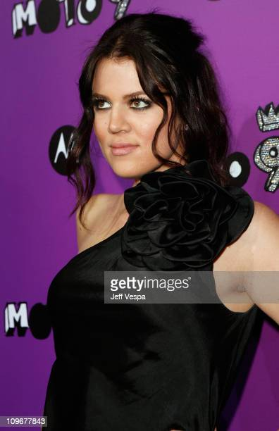 TV personality Khloe Kardashian arrives at MOTO 9 Motorola's 9th Anniversary party held at The Lot on November 8 2007 in West Hollywood California