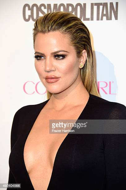 TV personality Khloe Kardashian attends Cosmopolitan's 50th Birthday Celebration at Ysabel on October 12 2015 in West Hollywood California