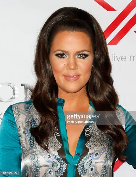 TV personality Khloe Kardashian attends Fox's 'The X Factor' viewing party at Mixology101 Planet Dailies on December 6 2012 in Los Angeles California
