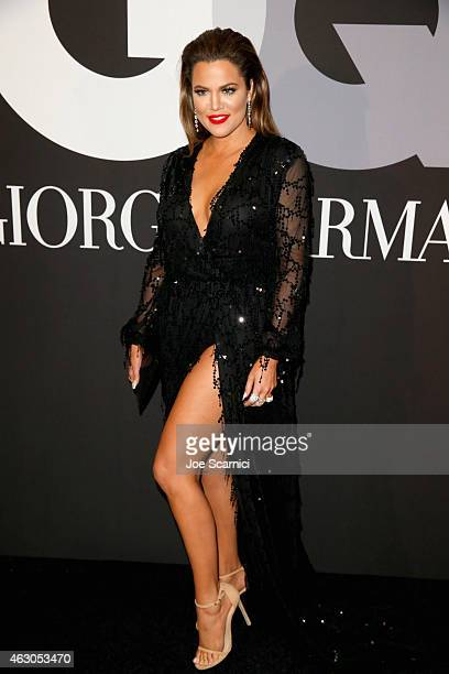 TV personality Khloe Kardashian attends GQ and Giorgio Armani Grammys After Party at Hollywood Athletic Club on February 8 2015 in Hollywood...