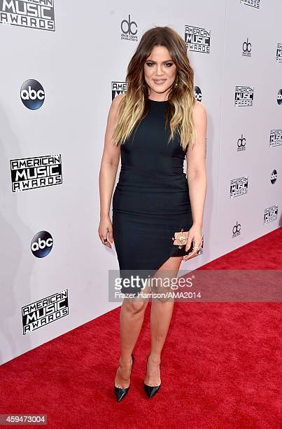 TV personality Khloe Kardashian attends the 2014 American Music Awards at Nokia Theatre LA Live on November 23 2014 in Los Angeles California