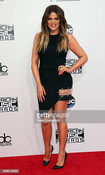 TV personality Khloe Kardashian attends the 42nd Annual American Music Awards at the Nokia Theatre LA Live on November 23 2014 in Los Angeles...