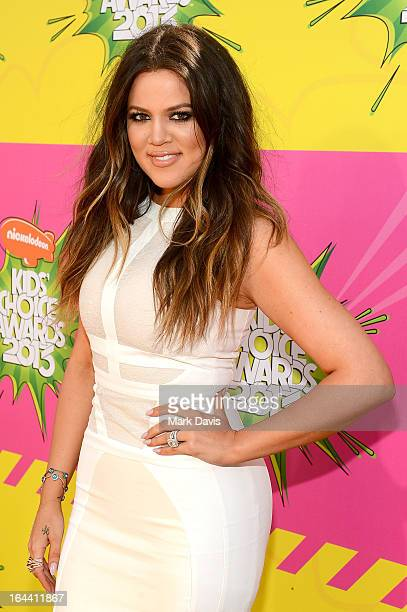 TV personality Khloe Kardashian Odom arrives at Nickelodeon's 26th Annual Kids' Choice Awards at USC Galen Center on March 23 2013 in Los Angeles...