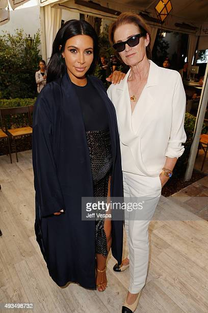 TV personality Kim Kardashian and West Coast Director of Vogue and Teen Vogue Lisa Love attend CFDA/Vogue Fashion Fund Show and Tea at Chateau...