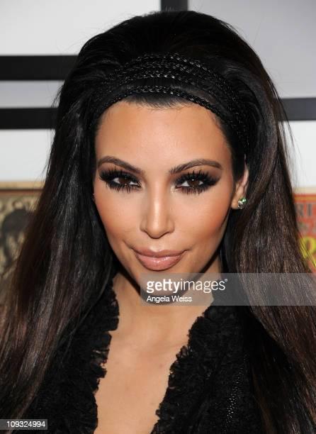 TV personality Kim Kardashian arrives at Ciroc's Exclusive NBA AllStar Weekend Event at Rolling Stone Lounge on February 20 2011 in Hollywood...