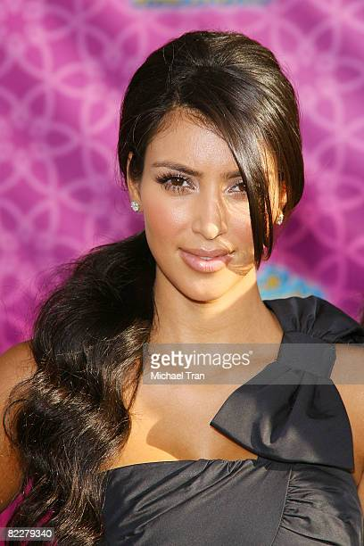 """Personality Kim Kardashian arrives at Disney Channel's """"The Cheetah Girls: One World"""" Los Angeles Premiere held at El Capitan Theatre on August 12,..."""