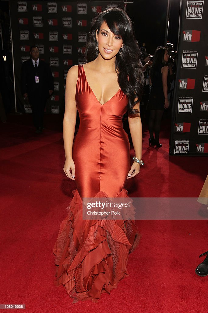 TV personality Kim Kardashian arrives at the 16th annual Critics' Choice Movie Awards at the Hollywood Palladium on January 14, 2011 in Los Angeles, California.