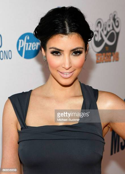 TV personality Kim Kardashian arrives at the 16th Annual Race to Erase MS event cochaired by Nancy Davis and Tommy Hilfiger at Hyatt Regency Century...